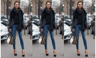 how to wear jeans model style