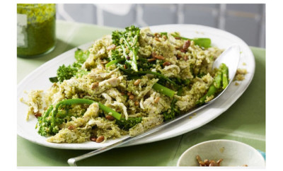 poached chicken broccoloni