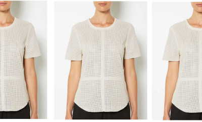 witchery perforated white leather tee