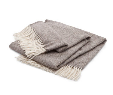 grey fringe throw
