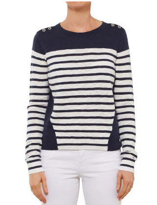tommy H chic but chic stripe tee