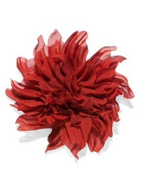 cue red flower brooch