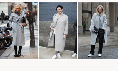 greycoats sneakers coats styling trick