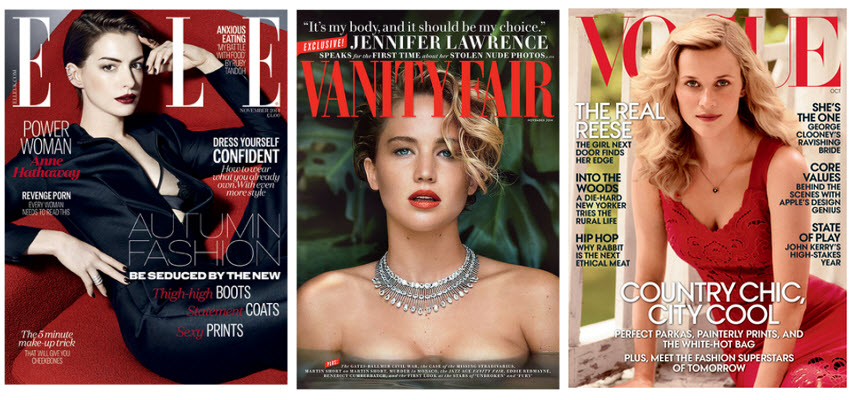 covers x 3 vogue elle glamour