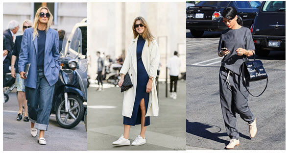 white shoes flats street style