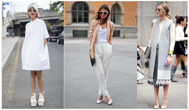 white shoes street style x3