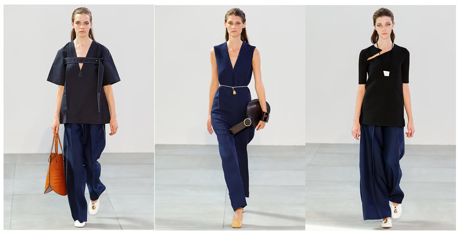 celine summer navy pants