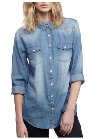 cotton on denim shirt