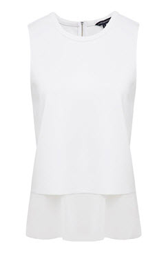 french conn white layered tank