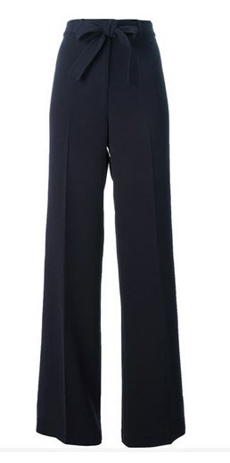 tory burch navy pants