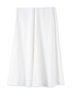 trenery white flare skirt