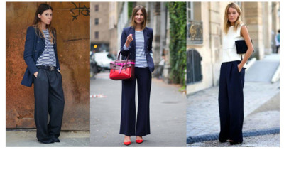wide navy pants main pic