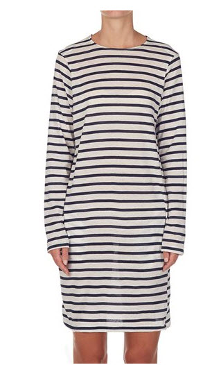 Bassike stripe dress straight hem