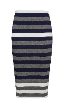 fC stripe grey tube skirt