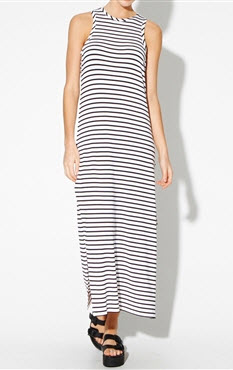 general pants stripe long dress