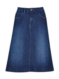 What S The Cheap Amp Chic Of The Week A Denim Skirt The
