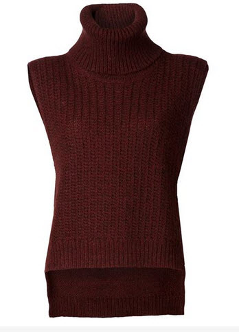 burgundy farfetch vest