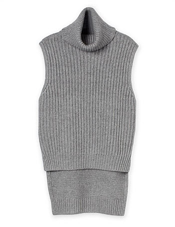 croad grey roll neck top
