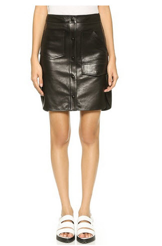 alexwang black short skirt