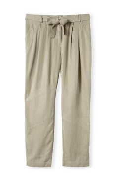 country road khaki silk pants