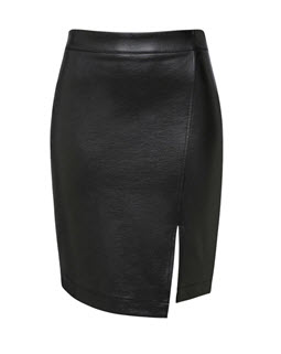 french conn pleather skirt