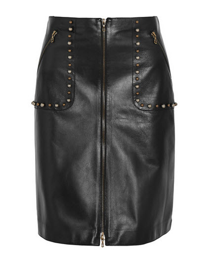lanvin leather skirt netaport
