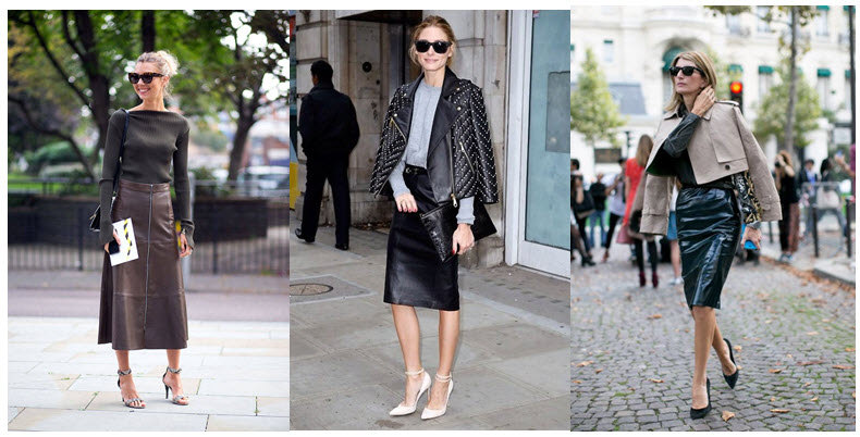 leather skirts street style 1