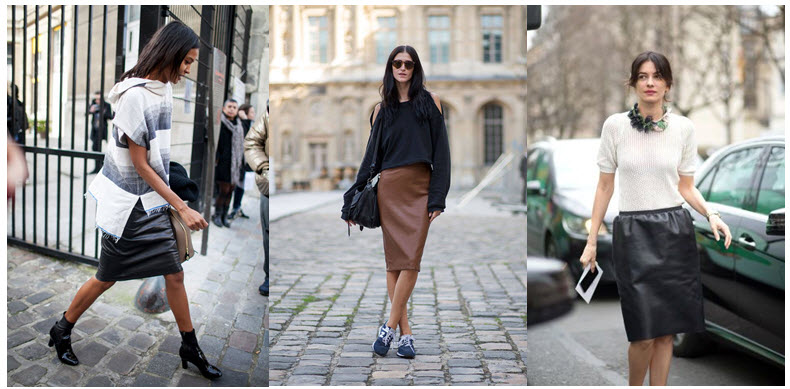 leather skirts street style 2