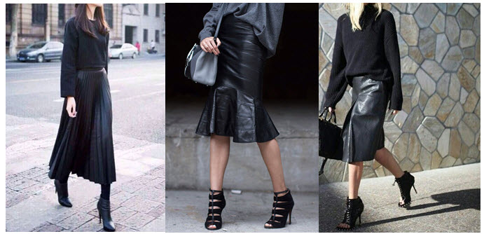 leather skirts street style 3