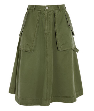 marc jacobs camo skirt