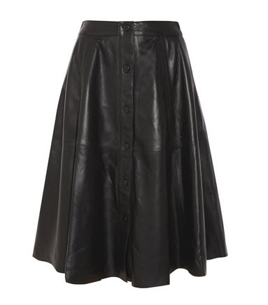 outnet button leather skirt