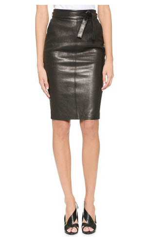rachel zoe leather skirt1