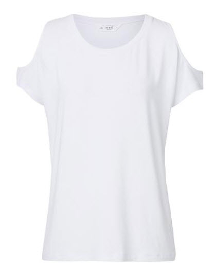 sed white cut out tee