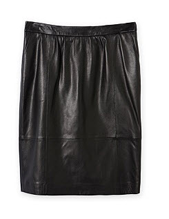 trenery leather blk skrit