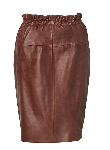 witcheyr tan leather skirt