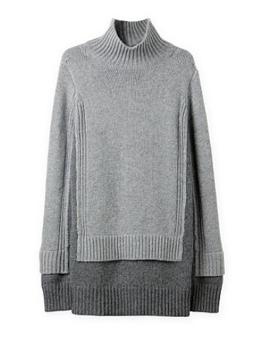 croad grey double layer sweater