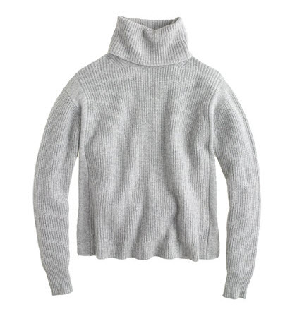 j crew grey sweater turtleneck