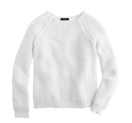 j crew white knit sweater