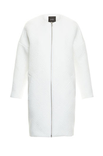 saba white long jacket