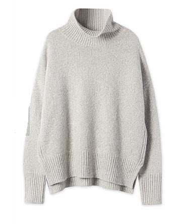 trenery grey cashmere sweater