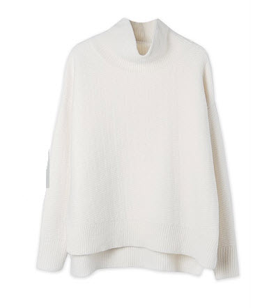 trenery white poloneck sweater