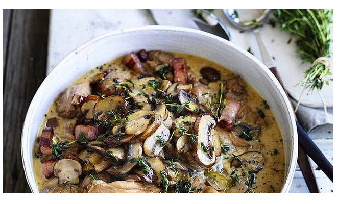 Chicken braised with mushroom and thyme #getcooking. – The FiFi ...
