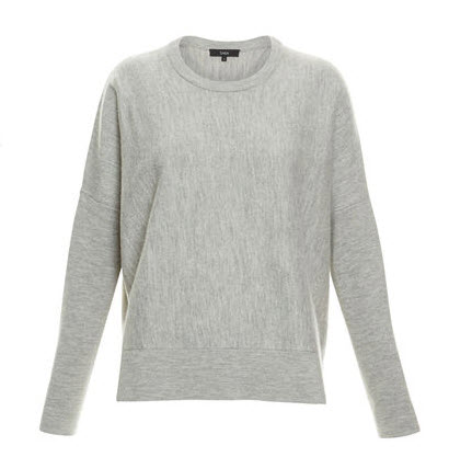 saba grey knit sweater