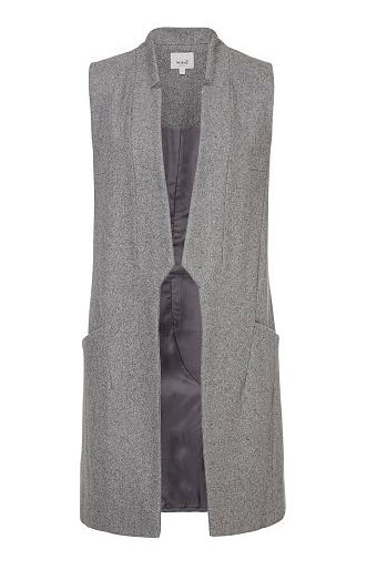 seed grey long vest