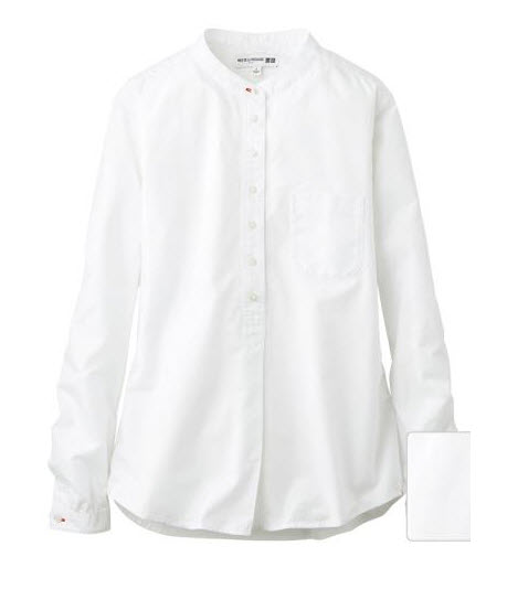 uniqlo white ines shirt