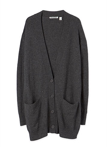 cr cardigan grey long