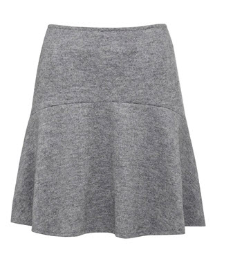french conn grey flip skirt