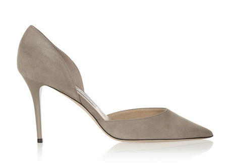 jimmy choo grey suee heels onsale
