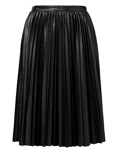 seed pleather pleat skirt