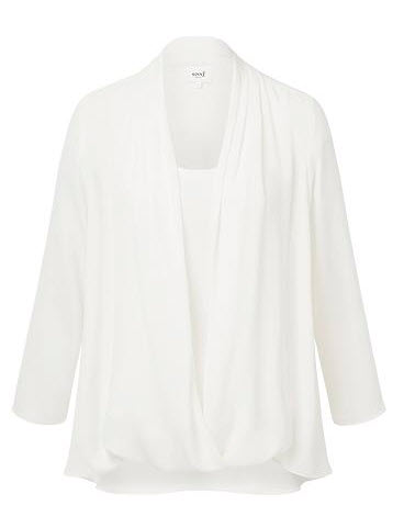 seed white drape shirt